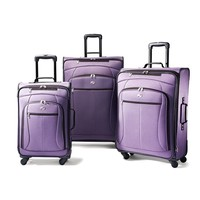American Tourister Luggage AT Pop 3 Piece Spinner Set, Purple, 29/25/21