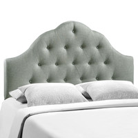 Sovereign King Fabric Headboard in Gray