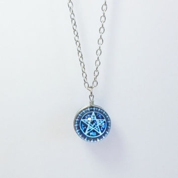 Sebastian's Pentagram Necklace,Black Butler Necklace,Sebastian Necklace,Japanese Anime Cosplay,Black Butler,Kuroshitsuji, Sebastian Symbol