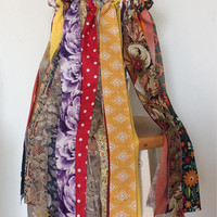 Fall Wedding Wands, 100 Double Fabric Streamers, Autumn Birthday Party Favors, Wedding Send Off, Kissing Bells