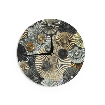 "Heidi Jennings ""All That Glitters"" Brown Glitter Wall Clock"