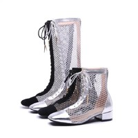 Buy Pretty in Boots Mesh Tall Boots | YesStyle