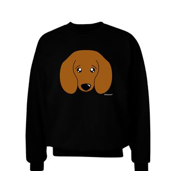 Cute Doxie Dachshund Dog Adult Dark Sweatshirt by TooLoud