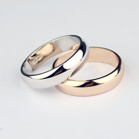 18K Gold/Silver Plated Jewelry Ring Band Wedding Love Engagement