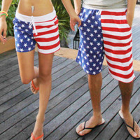 New Mens Womens Stars Stripes American Flag Beach Shorts Swimming Board Shorts