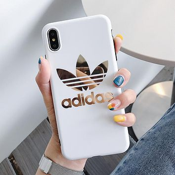 Adidas Fashion Women Men Personality Mobile Phone Cover Case For iphone 6 6s 6plus 6s-plus 7 7plus 8 8plus X XS Max XR White