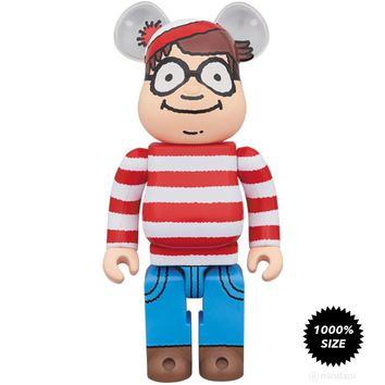 Where's Waldo Wally 1000% Bearbrick by Medicom Toy - Pre-order