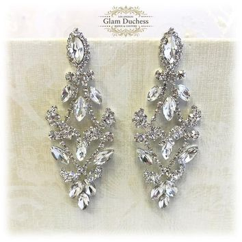 Bridal Victorian Crystal Chandelier Earrings