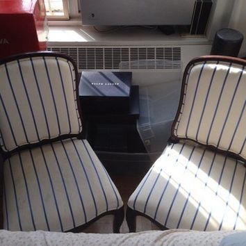 Pair of Ralph Lauren Queen Anne Style chairs