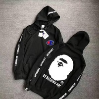 ONETOW Champion x BAPE Fashion Hoodie Top Sweater