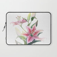 Lilium Laptop Sleeve by printapix