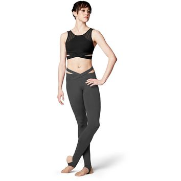 Crossover Waistband Stirrup Legging FP5061 by Bloch