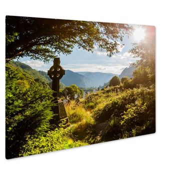 GP Giclee Metal Panel Print, Old Celtic Cross In Glendalough Wicklow Mountain Ireland, 16x20