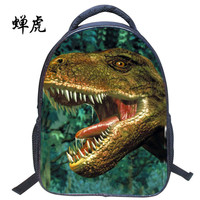 New Hot sale 3D Dinosaurs Jurassic world embossing small boys students bag backpacks school travel backpack children bags