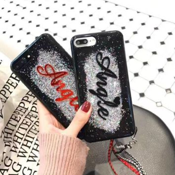 Fashion Angle  twinkling TPU Case Cover for Apple iPhone 7 7Plus 6 Plus 6 -05012