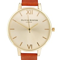 Olivia Burton Big Dial Tan Watch - Brown
