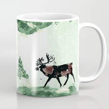 Reindeer in snowy forest by Cindys
