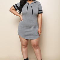 Sporty Plus Size Mini Dress