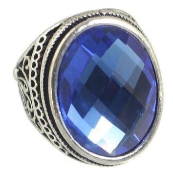 Crystal Ball Stone - Big Colorful Party Ring - Vintage Antique Style