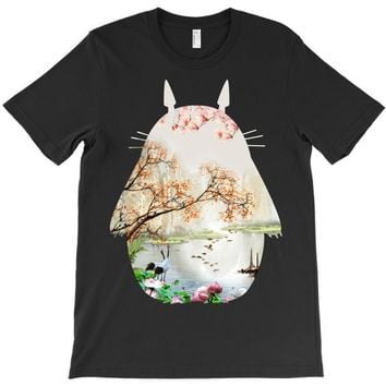 Totoro With Japanese Landscape T-Shirt
