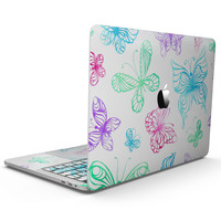 Vivid Vector Butterflies - MacBook Pro with Touch Bar Skin Kit