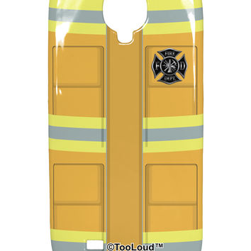 Firefighter Yellow AOP Samsung Galaxy S4 Plastic Case All Over Print