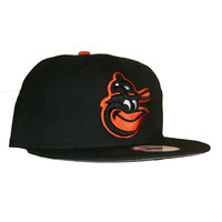 New Era 950 Baltimore Orioles Grey Bottom SnapBack In Black Orange