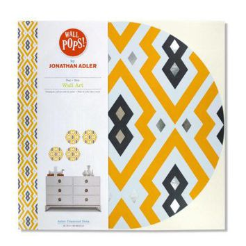 Aztec Diamond Dots Peel + Stick Wall Art ( Case of 8 )