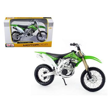 Kawasaki KX 450F Green Motorcycle Model 1:12 Bike by Maisto