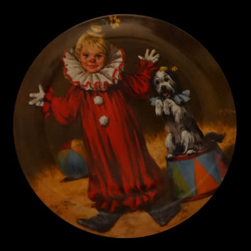 1982 Tommy the Clown by John McClelland Plate No. 4964 B
