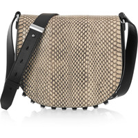 Alexander Wang - Lia small elaphe and leather shoulder bag