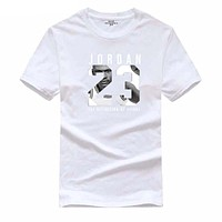 2017 Michael Jordan 23 jump brand T-shirt men's Harajuku 95 cotton T-shirt summer men's clothing Slim T-shirt XXL