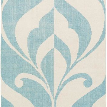 Surya Paradox Medallions and Damask Blue PRX-1003 Area Rug