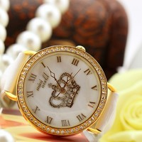 Crown Diamond Studded Watch for Women