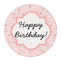 Confetti Cake • Pink Buttercream Frosting Edible Frosting Rounds
