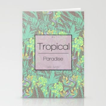Tropical Paradise: Jade Jungle Stationery Cards by Ben Geiger