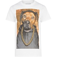 White dog print t-shirt - print t-shirts - t-shirts / vests  - men