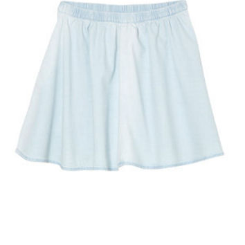 Teens Light Blue Denim Skater Skirt