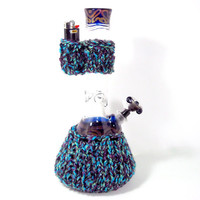 Knit Waterpipe and Lighter Holder Set, TWILIGHT - Bong and lighter not included