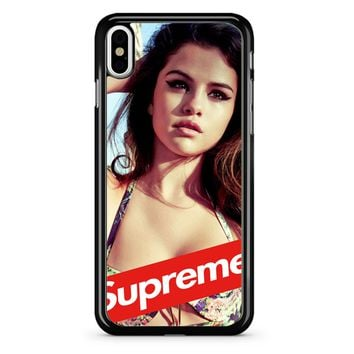 Selena Gomez Supreme iPhone X Case