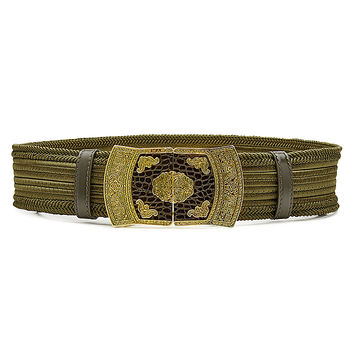 Etro - Embroidered Fabric Belt