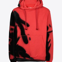 Maison Margiela Paintbrush' Print Hooded Sweatshirt Men |