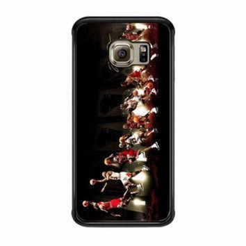 DCKL9 Michael Jordan NBA Chicago Bulls Dunk Samsung Galaxy S6 Edge Case