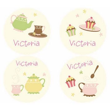 Caleb Tea Party Personalized Stickers