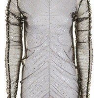 Gold Star Metallic Ruched Top - New In