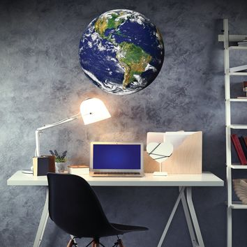 2 ft Earth from Space Wall Decal, Peel & Stick Matte Poster Decal