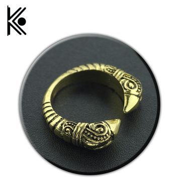 Vikings Wolf category Norse Vikings ring Valknut adjustable rings Knot Viking Amulet jewelry Nordic Talisman