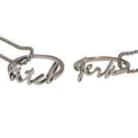 Supernatural Jerk & Bitch Best Friend Ring Necklace Set