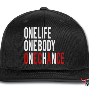 One Life One Body One Chance snapback