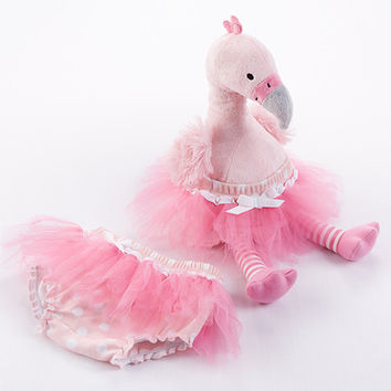 "Baby Aspen ""Fancy Pants"" Plush Flamingo & Bloomer for Baby"